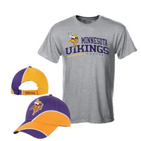 Minnesota Vikings Reebok Hat & T-Shirt Combo – Purple