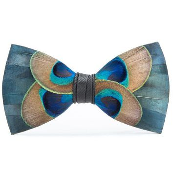 Brackish, Aberdeen Bow Tie, Pheasant/Peacock Feathers