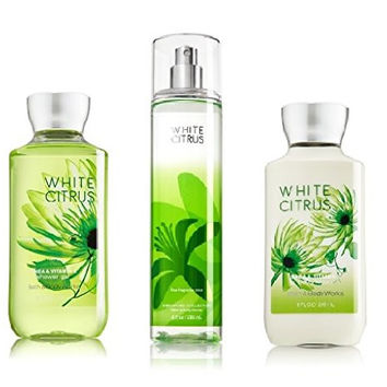 Bath and Body Works - Signature Collection - WHITE CITRUS - Shower Gel - Fine Fragrance Mist & Body Lotion Trio