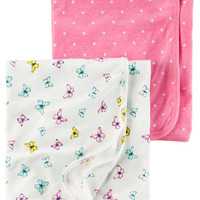 2-Pack Babysoft Neon Swaddle Blankets