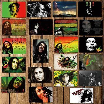 [ Mike86 ] Bob Marley Music Metal Tin Sign Room Decor Vintage Wall Craft For Pub Home 20*30 CM FG-218