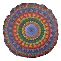 Mandala for the masses round pillow