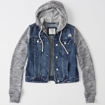 DENIM TWOFER JACKET