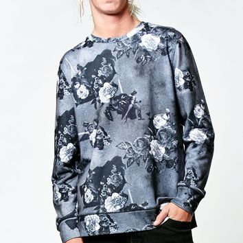 On The Byas - Disney Star Wars Floral Darth Vader Pullover Sweatshirt - Mens Hoodies - Black