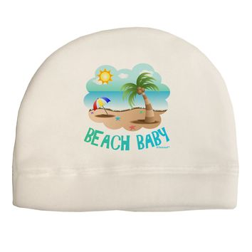 Fun Summer Beach Scene - Beach Baby Child Fleece Beanie Cap Hat by TooLoud