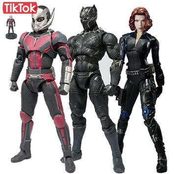 Captain America  Ant Man, Black Panther, Black Widow Action Figures