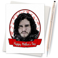 Funny Mothers Day - Game Of Thrones Card - Jon Snow - Winter Is Coming - Mothers Day Card - Funny Mom Card - Greeting Card - Mother Day Gift