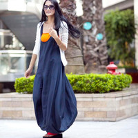 Graceful Blue Vest Shape Sweep Long Dress NC016 by Sophiaclothing