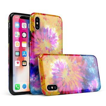 Spiral Tie Dye V8 - iPhone X Swappable Hybrid Case