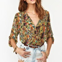 Splatter Pocket Blouse