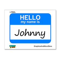 Johnny Hello My Name Is Sticker