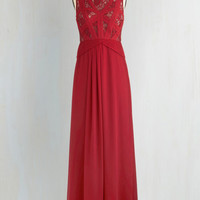 Long Sleeveless Maxi Raspberry Radiance Dress