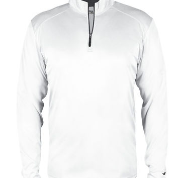 Badger 2102 B-core Youth 1/4 Zip - White Graphite