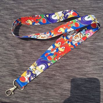 Sonic the Hedgehog Shadow Cell Phone chain Neck Strap Keys Lanyards Key Chain cute ID Badge Key rings cosplay accessories BT12