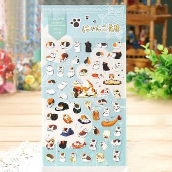 1Sheet New Cat Teacher Natsume Friends Account Account Journal Decoration Hand Print Sticker H0215