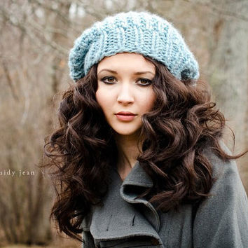 2331146ed4b24 Hand Knit Hat Womens Hat - The Soho Beret from pixiebell on Etsy
