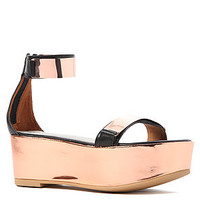 Jeffrey Campbell Shoe Lars in Rose Gold