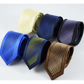 2016 New Arrivel Slim Ties For Men High Quality Wedding Tie Dot Striped Necktie Corbatas Hombre Cravate Men's ties For Business