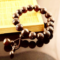 Tibetan Mala Prayer Beads ~Wooden ~ Buddhist Six Mantra Meditation Bracelets
