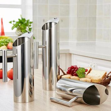 Stainless Steel Pitchers  Multi-Function Water Wine Hot Cold Kitchen