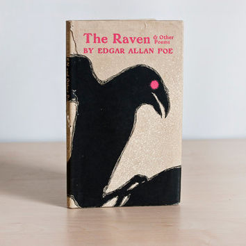 The Raven and Other Poems by Edgar Allan Poe with Dust Jacket, Mid Century Illustrations, Peter Pauper Press