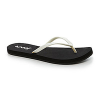Reef Women's Stargazer Flip-Flops - Black/White