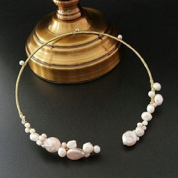new original design handmade natural freshwater pearl Elegant