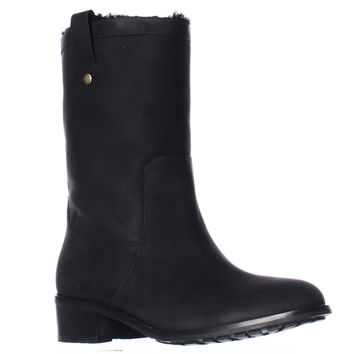 Cole Haan Jessup Shearling Lined Waterproof Pull On Boots - Black