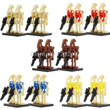 4pcs/lot Star Wars Battle Droid Figure Starwars Model Set Building Blocks kits Brick Toys for Children