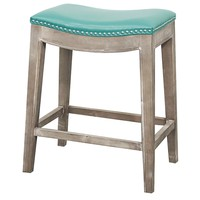 Mesa Counter Stool RUSTIC GREY/TURQUOISE