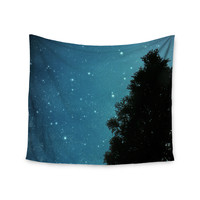 "Robin Dickinson ""Star Light"" Celestial Forest Wall Tapestry"