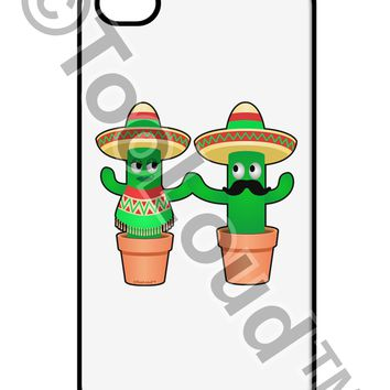 Fiesta Cactus Couple iPhone 4 / 4S Case  by TooLoud