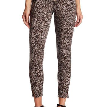 Jolt | Leopard Print Ponte Stretch Knit Pants