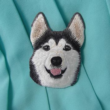 Boutique Snow Dog Husky Patch