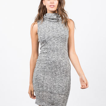 Marled Knit Tank Dress - Large