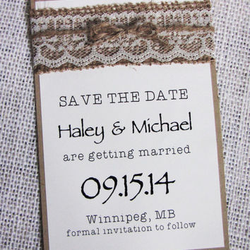 Rustic Save the Date Card, Save the Date, Wedding Save the Date