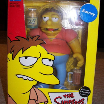 HUGE SALE 35% OFF The Simpsons Faces Of Springfield Deluxe Figure Barney Gumble Collectible In Original Box