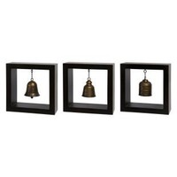 IMAX Framed Bells Wood Wall Art - Set of 3 - Wall Art at Hayneedle