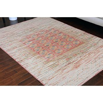 8709 Red Rustic Oriental Area Rugs