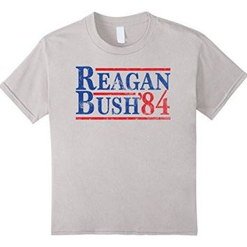 Reagan Bush 84 T Shirt Ronald Reagan For President 1984