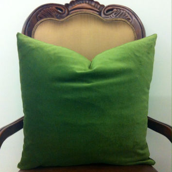Grass Green Cotton Velvet Pillow Cover,Green Pillows,Decorative Pillows,Green Velvet Cushion Couch Sofa Covers,Green Velvet Throw Pillows