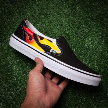 Vans x Thrasher SLIP-ON PRO Flats Shoes Sneakers Sport Shoes