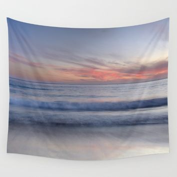 """Magical waves at sunset"" Wall Tapestry by Guido Montañés"