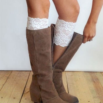 Boot Topper, Gorgeous Lace Boot Topper, Boot Cuffs.