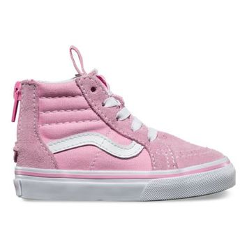 Vans Toddlers SK8-Hi Zip (prism pink/true white)