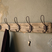 Recycled Wood And Wire Coat Hook