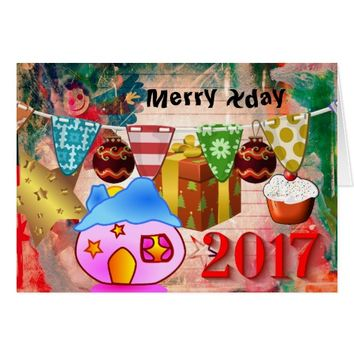 Feel Good Christmas - New Year Greetingcards Card