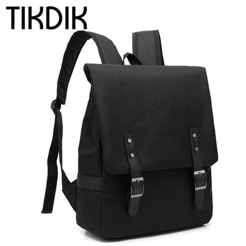 Unisex Canvas Backpacks Fashion School Bags for Teenager Boys Girls Large Capacity Travel Laptop Backpack leather mochila rugtas