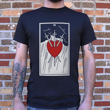 Mens Tarot Three Of Swords T-Shirt