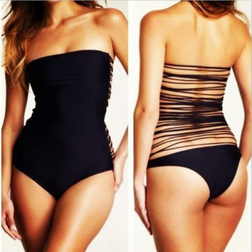 Summer High Quality Comfortable Ladies Sexy Hollow Out Swimwear [6048209345]